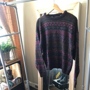 Other - Men's wool blend patterned sweater